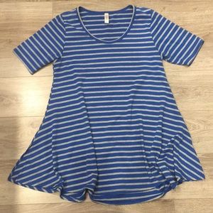 LLR Perfect Tee in Blue/ Grey
